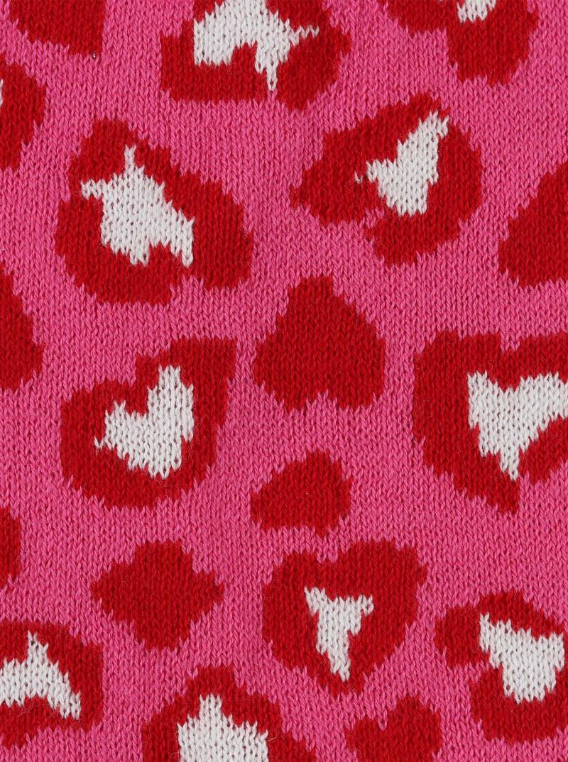 Zwillingsherz Kids Dreieckstuch Mütze Set Bio Baumwolle pink corall rot Herzen Leo